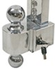"Self-Locking, Adjustable 2-Ball Mount w Chrome Balls - 2.5"" Hitch - 4"" Drop, 5"" Rise Two Balls DTALBM6427"