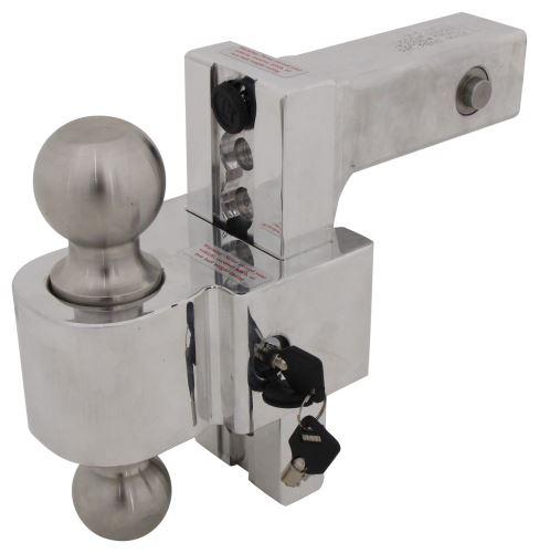 Self Locking Adjustable 2 Ball Mount W Stainless Balls