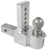 "Solid-Tow Adjustable 3-Ball Mount Stainless Steel Balls - 2"" Hitch - 6"" Drop/7"" Rise Aluminum Shank DTSTBM6600-3S"