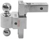"Solid-Tow Adjustable 2-Ball Mount w Chrome Balls - 2"" Hitch - 6"" Drop, 7"" Rise Fits 2 Inch Hitch DTSTBM6607"
