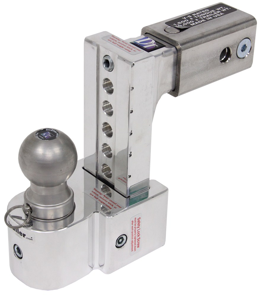 Solid Tow Adjustable 3 Ball Mount W Stainless Balls 2 1