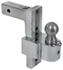 "Solid-Tow Adjustable 3-Ball Mount w Stainless Balls - 2"" Hitch - 8"" Drop, 9"" Rise Anti-Rattle Shank DTSTBM6800-3S"