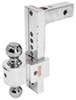 "Solid-Tow Adjustable 2-Ball Mount w Chrome Balls - 2"" Hitch - 10"" Drop, 11"" Rise Drop - 10 Inch,Rise - 11 Inch DTSTBM7000"