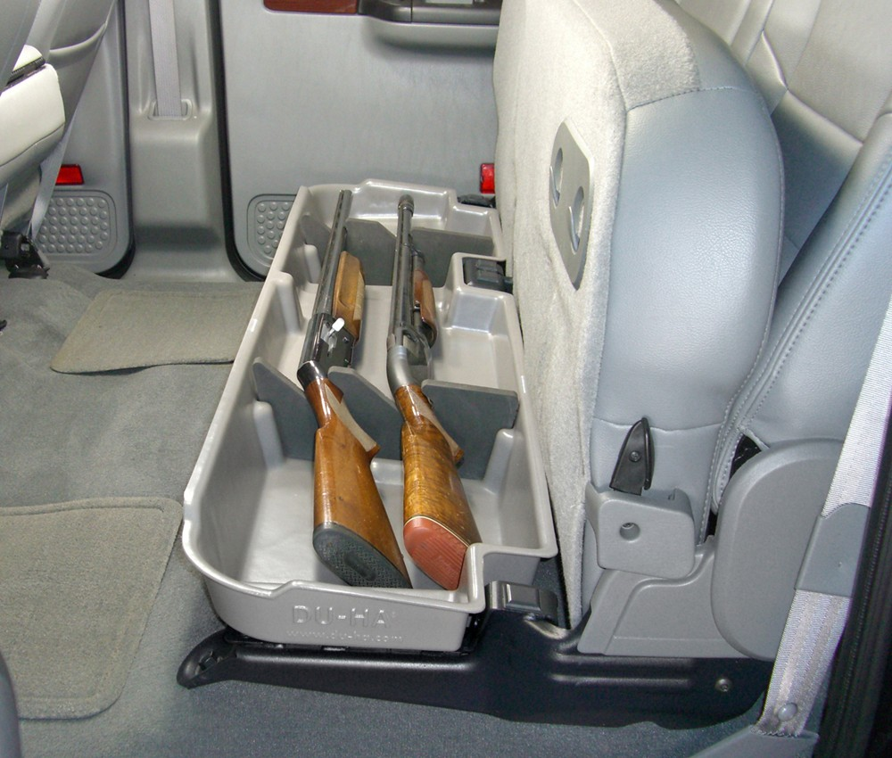 Truck Cab Organizer >> Du-Ha Truck Storage Box and Gun Case - Under Rear Seat ...