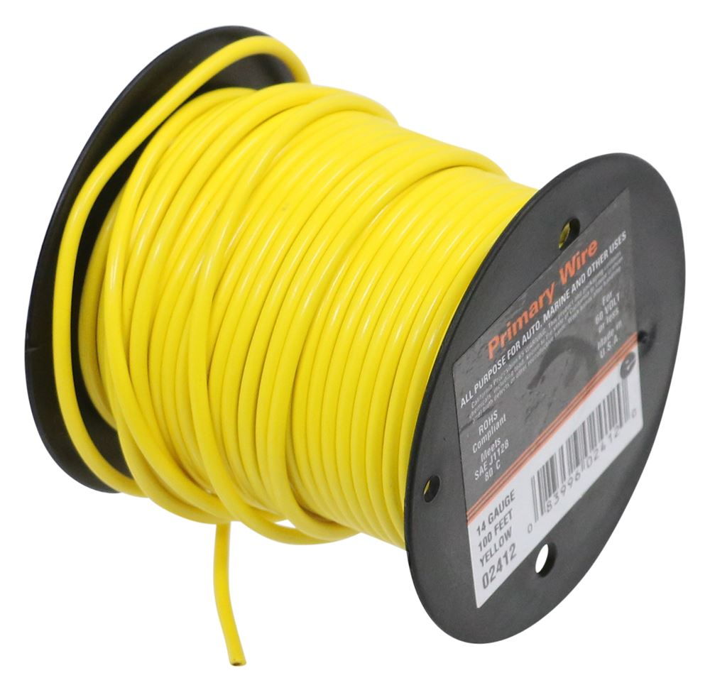 14 Gauge Primary Wire - Yellow - per Foot Single Wire DW02412-1