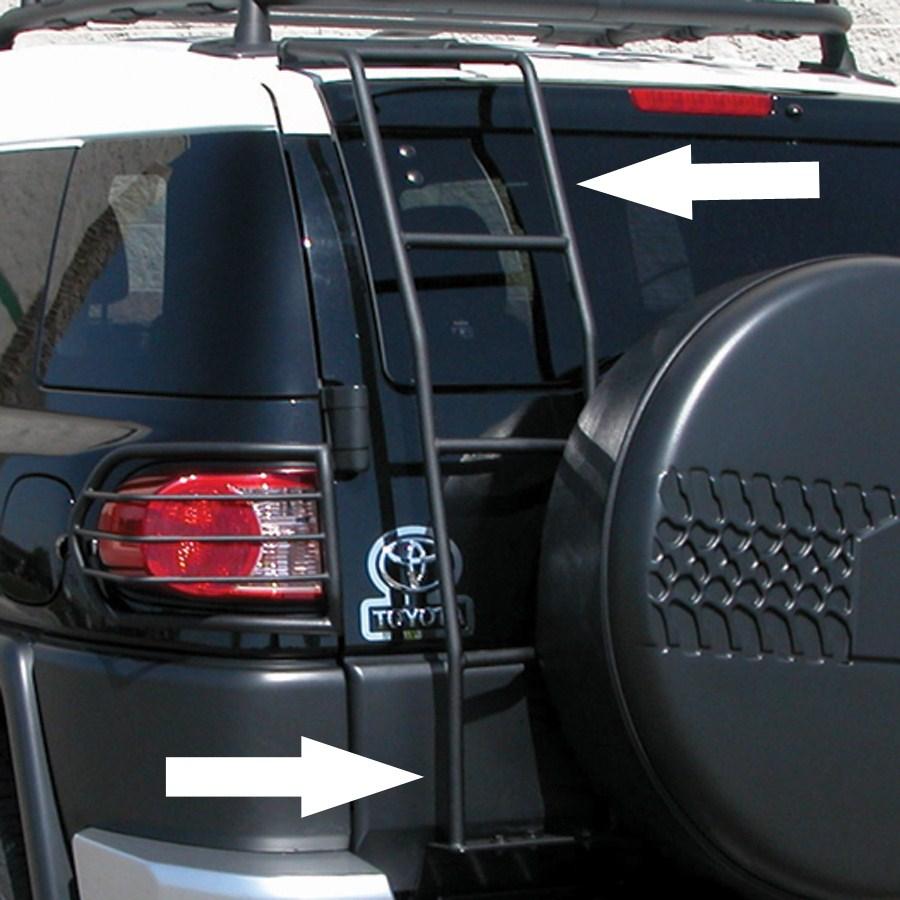 1064 Toyota Fj Cruiser Deezee Rear Door Ladder For Trailer Wiring Black Powder Coated Steel
