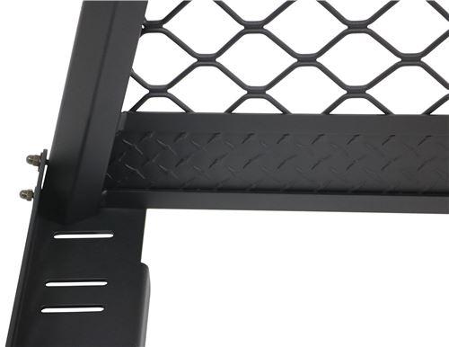 DeeZee Custom Headache Rack - Mesh Screen - Aluminum - Textured Black  Powder Coat c4d78fb1de67