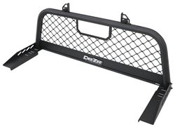 DeeZee Custom Headache Rack - Mesh Screen - Aluminum - Textured Black Powder Coat