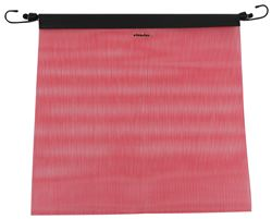 "Erickson Mesh Safety Flag w/ Bungee Cord - 18"" Wide x 18"" Long - Fluorescent Red"