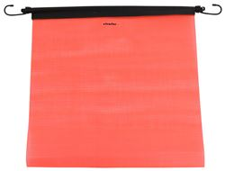 "Erickson Mesh Safety Flag w/ Bungee Cord - 18"" Wide x 18"" Long - Fluorescent Orange"