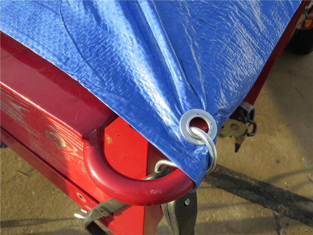 Erickson Adjustable Tarp Tie-Down Strap w/ S-Hooks - Rubber