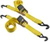 """Erickson Easy Ratchet Tie-Down Straps w/ Release Levers - 2"""" x 10' - 1,333 lbs - Qty 2 1-1/8 - 2 Inch Wide EM34410"""
