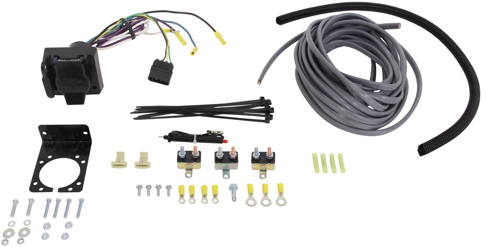 universal installation kit for trailer brake controller 7 way rv universal installation kit for trailer brake controller 7 way rv and 4 way flat 10 gauge wires etrailer accessories and parts etbc7