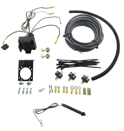 etrailer accessories and parts  universal installation kit for trailer brake controller - 7-way rv 4-way flat 10 gauge wires