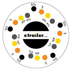 How To Measure The Bolt Pattern Of A Trailer Wheel Etrailer Com