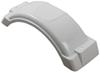 "Single Axle Trailer Fender w Top Step - Style B - White Plastic - 8"" to 12"" Wheels - Qty 1 Bracket Mount F008549"