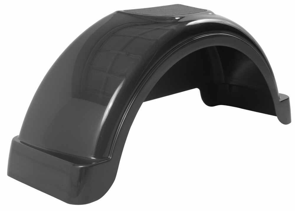 Fulton Plastic Fender with Top Step - Black - 14 Inch Tires