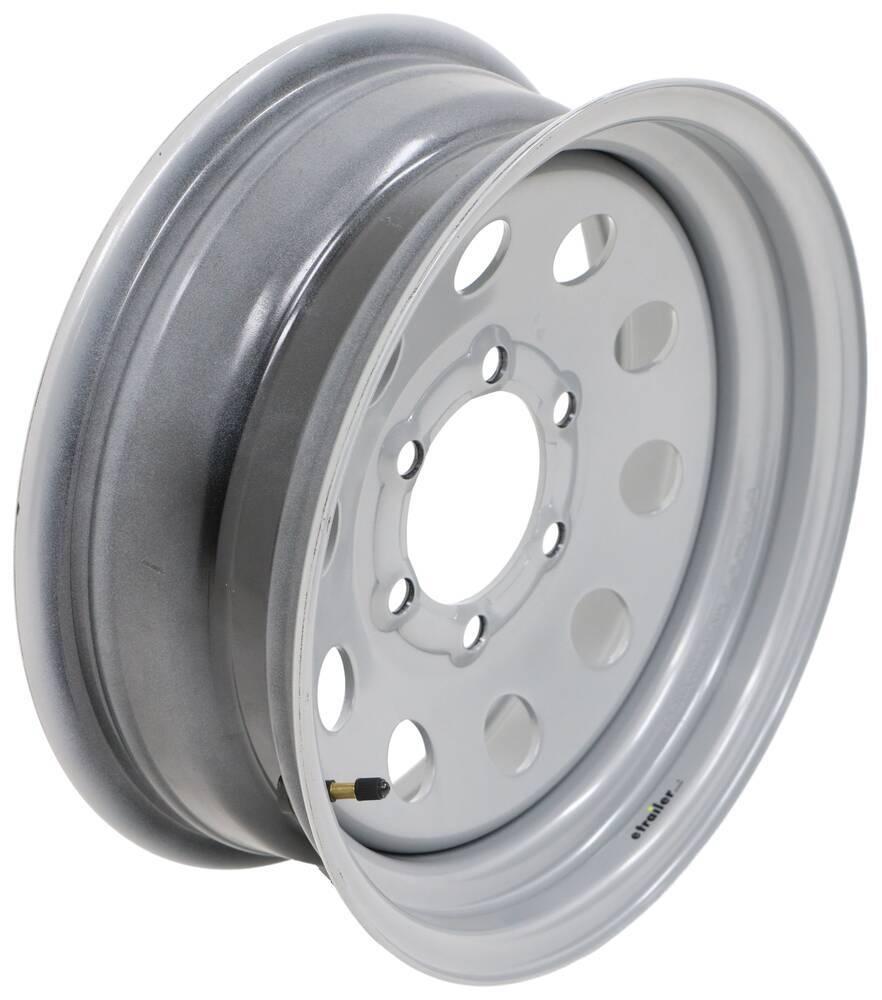 Equipment Trailer Rim Wheel 16 in 16X6 8 Hole Bolt Lug Silver Modular Design