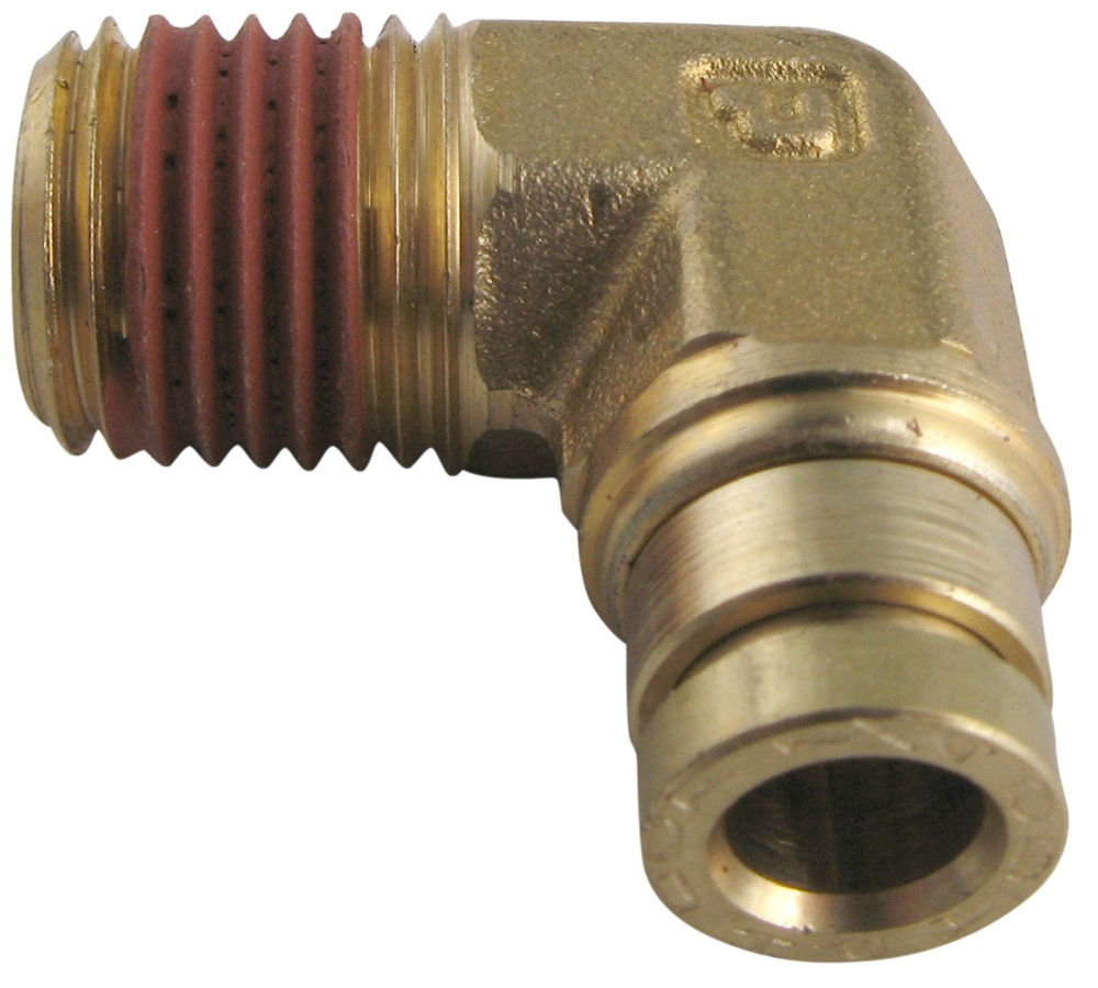 Firestone elbow connector for quot tubing npt male