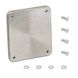 "Weld-On Mounting Bracket and Hardware for Fulton Swing-Up Trailer Jacks with 3"" x 5"" Mount"
