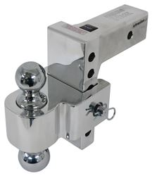 "Flash E Series HD Adjustable 2-Ball Mount - 2-1/2"" Hitch - 6"" Drop, 6"" Rise - 18K"