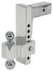 "Flash E Series HD Adjustable 2-Ball Mount - 2-1/2"" Hitch - 10"" Drop, 10"" Rise - 18K"