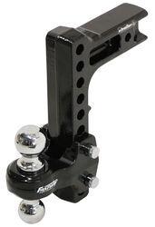 "Flash Solid Steel HD Adjustable 2-Ball Mount - 2.5"" Hitch - 10"" Drop, 11"" Rise - 20K"
