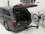 Swing away bike rack with bike loaded and vehicle hatch open