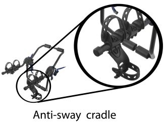 Closeup of anti-sway cradle