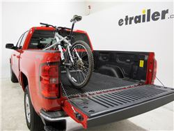 Truck bed bicycle installed with bike mounted