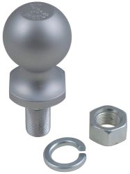 Trailer hitch ball, lock washer, and nut
