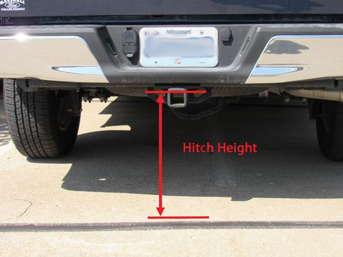 Measure trailer hitch height