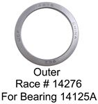 Outer trailer wheel bearing race