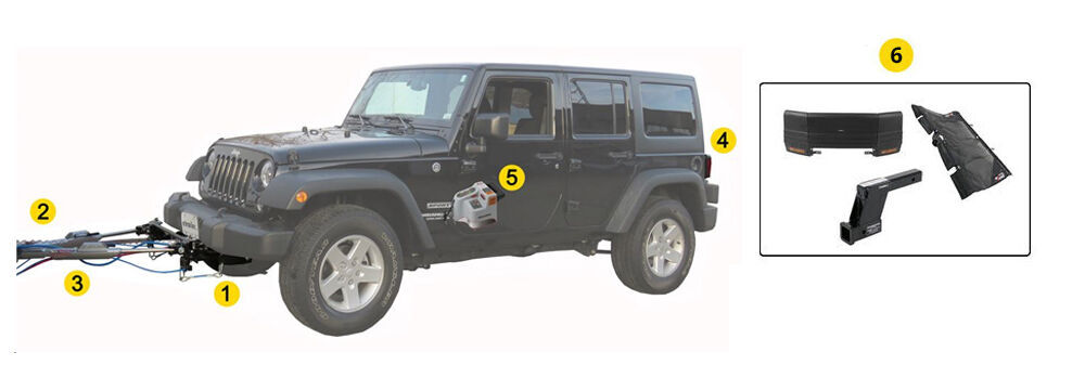 Flat Towing Package For 2007 2018 Jk Jeep Wrangler And Wrangler