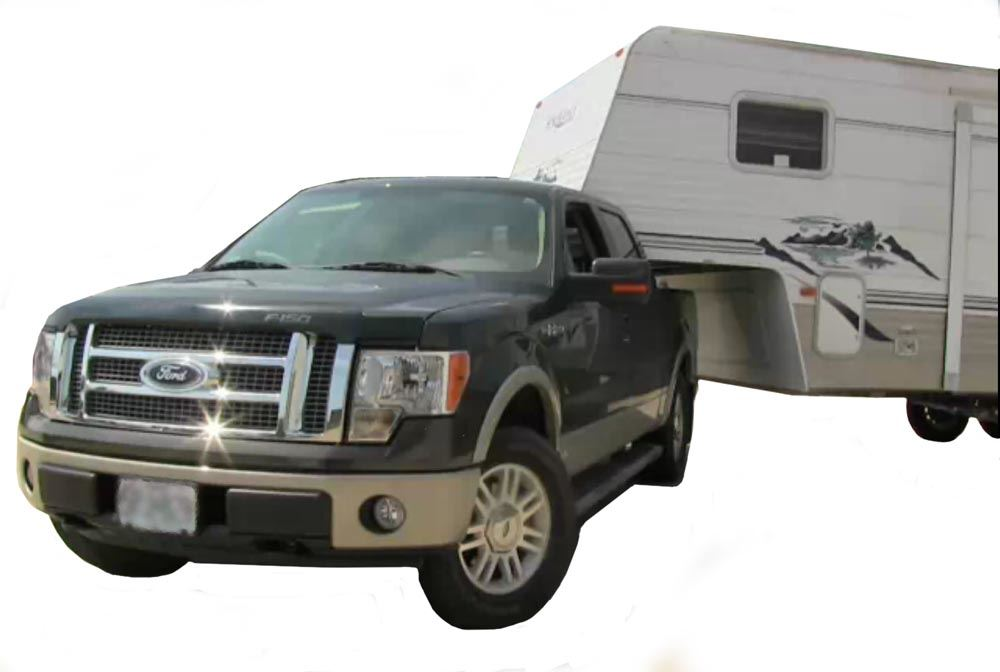 Truck with Fifth Wheel and Sidewinder
