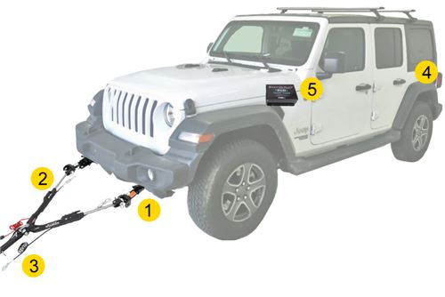 jeep wrangler main image  flat towing components: