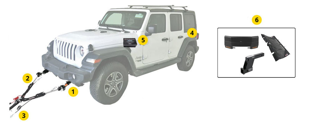 Flat Towing Package for 2018 Jeep Wrangler JL and JL ... on