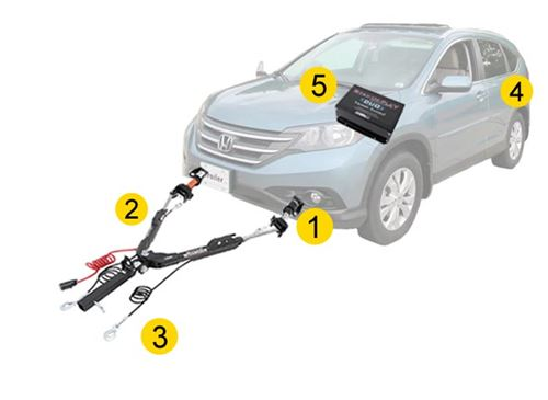 Tow Bar for Honda CR-V 2012 to 2016 models with Full ByPass Relay Electrics Kit