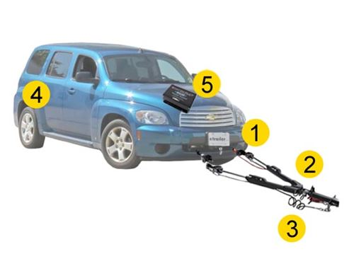 Flat Towing Package For 2008 2010 Chevrolet Hhr Etrailer Com