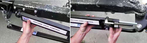 Friction Bars on Chain and Bracket Weight Distribution Hitch