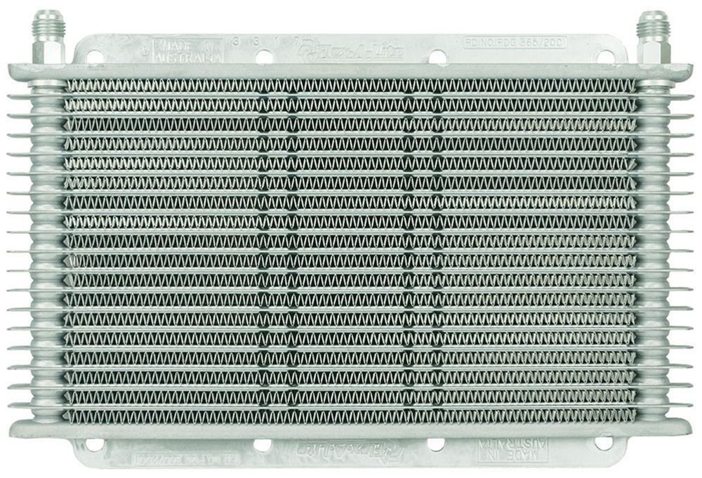 Flex-a-lite Transmission Cooler - Plate and Fin - 17 Row - Barbed Fitting With 3/8 Inch Hose Barb Inlets FLX400117