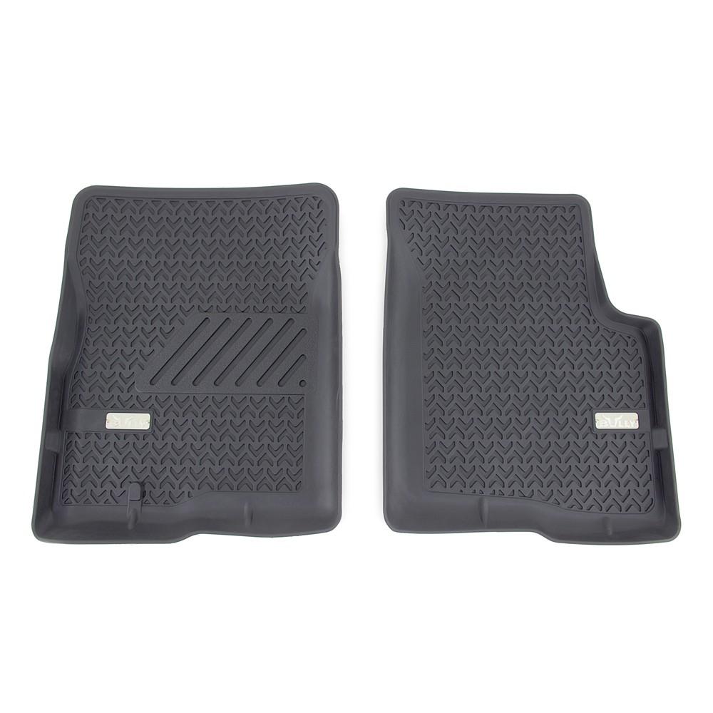 Bully Custom Truck Floor Liners Front Black Qty 2