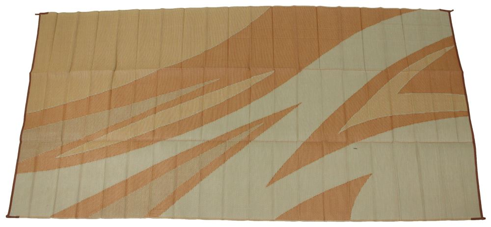 Faulkner Rv Mat Summer Waves Tan And Gold 8 X 16