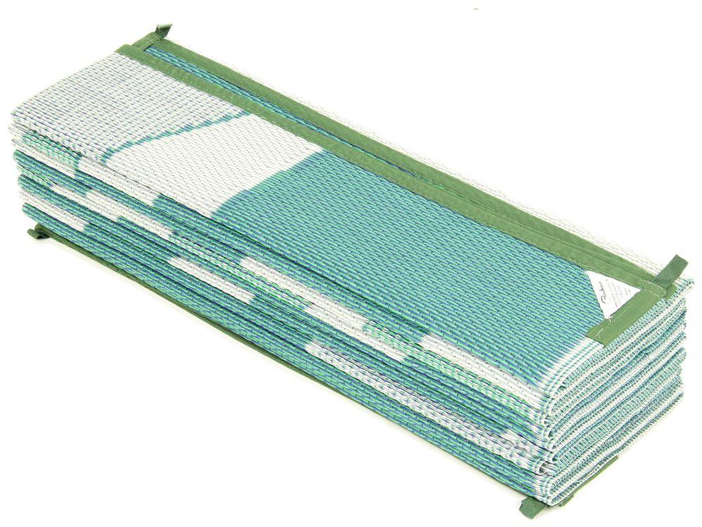 Faulkner RV Mat - Summer Waves - Green and Blue - 8' x 20