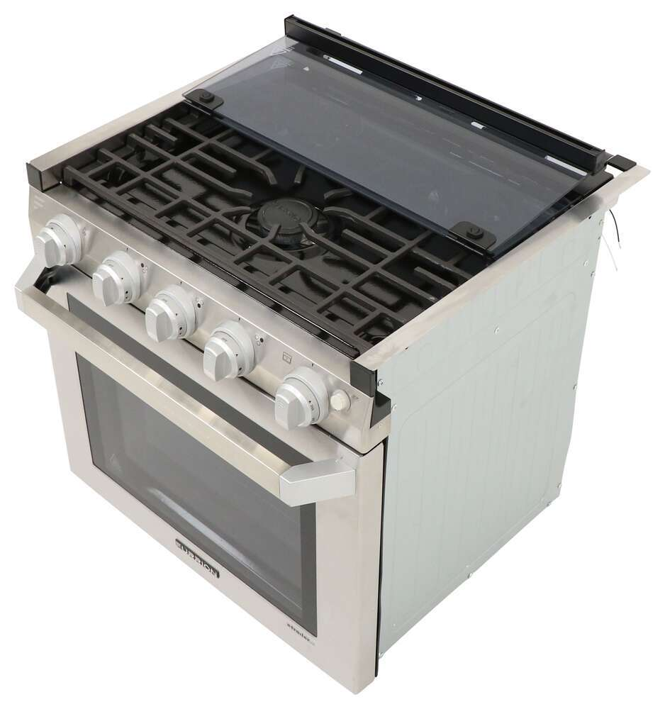 Rv Stove Oven >> Furrion 2 In 1 Range Oven W Die Cast Grate 21 Stainless Steel