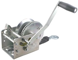 Fulton High-Performance 2-Speed Trailer Winch with 20' Strap - Zinc - 2,600 lbs