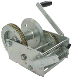 Fulton High-Performance 2-Speed Trailer Winch with Handbrake - Cable Only - Zinc - 3,700 lbs