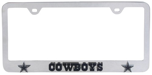 Dallas Cowboys NFL 3-D License Plate Frame - Chrome-Plated Steel ...