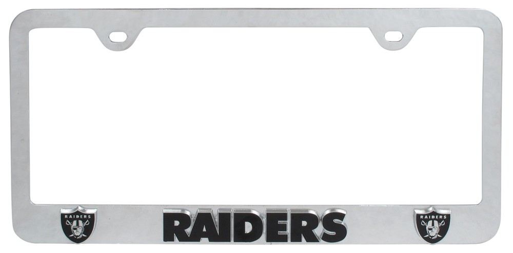 Oakland Raiders Nfl 3 D License Plate Frame Chrome
