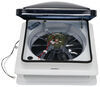 "Fan-Tastic Vent Roof Vent w/ 12V Fan - Clamp On - Manual Lift - 14-1/4"" x 14-1/4"" Vent Assembly FV801208"